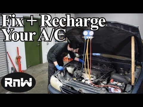 How to Diagnose and Recharge Your AC System with Refrigerant - Using an A/C Manifold Gauge Set