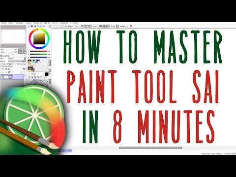 How to Use Paint Tool SAI in 8 Minutes for Beginners || Paint Tool SAI Tutorial w/ Commentary