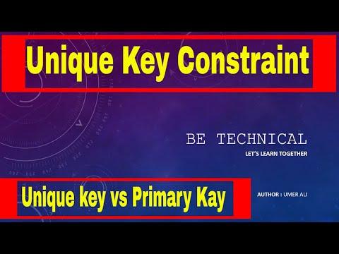 [Urdu/Hindi] Part # 9 || Unique key Constraint in SQL Server