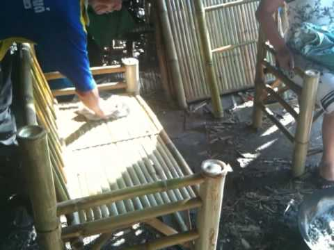 Trying out bamboo furniture