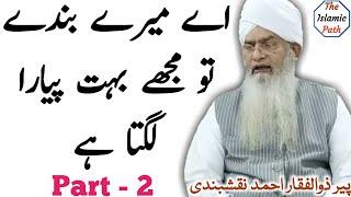 Ay Mere Bande Tu Mujhe Bohat Pyara Lagta Hay   Part 2   Pir Zulfiqar Ahmed Naqshbandi