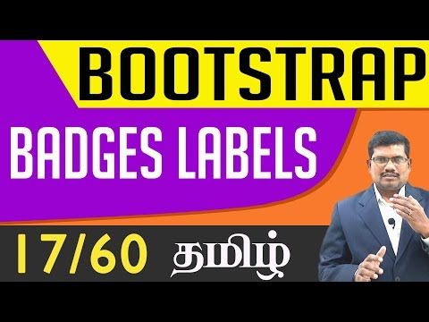 #17 Badges and Labels || Bootstrap In Tamil (In Tamil)