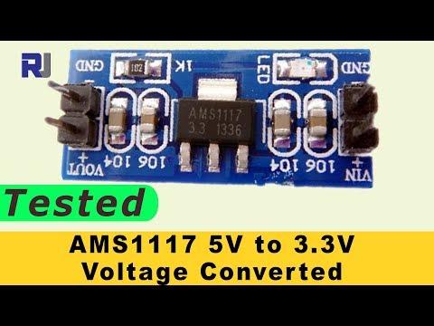 5V to 3.3V Arduino Voltage Converter AMS1117 Tested