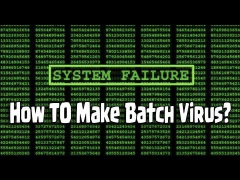 How To : Make Batch Viruses 1