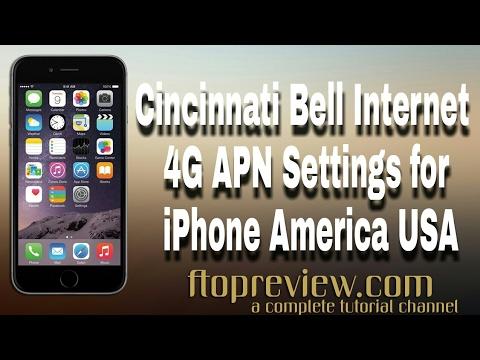 Cincinnati Bell Internet 4G APN Settings for iPhone America USA