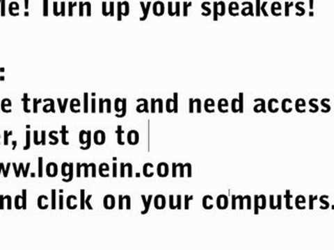 Nabil's Computer Show-Free PC Remote Access, LogMeIn, 100%