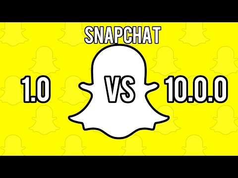 Snapchat version 1.0 vs 10.0.0! What a change!