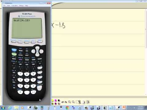 Technology in College Algebra - Finding GCF of Two Numbers - TI-84 Plus