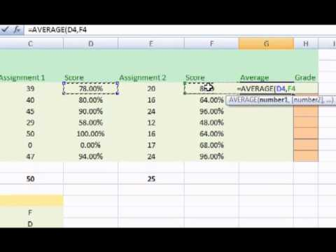 Commonly Used Excel Formulas