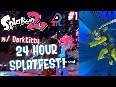 Splatoon 2 Splatfest #10 (Raph VS Leo) Part 1 [FIRST EVER CROSS TEAM 24 HOUR SPLATFEST!!!]