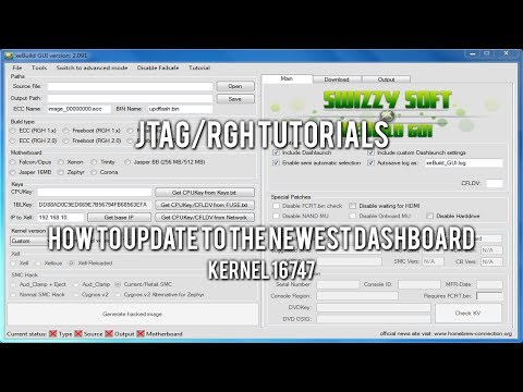 JTAG/RGH Tutorials - How to Update to the Newest Dashboard (Kernel 16747)