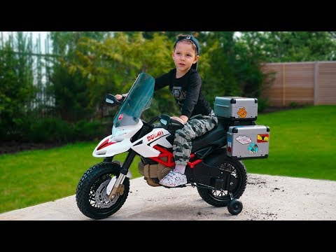 Unboxing and Assembling Power Wheels DUCATI CROSS BIKE Ride on Mini Pocket Bike Cars video for kids