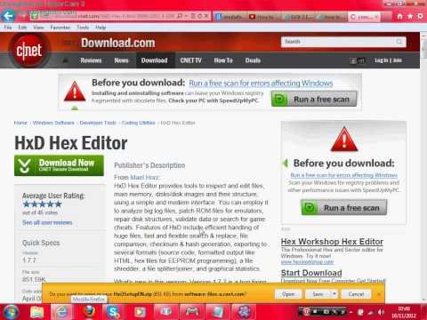 How to Download HxD Hex Editor