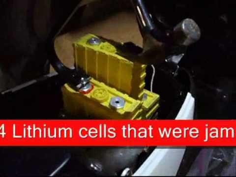 Repair swollen Thundersky Winston LIFEPO4 Lithium batteries