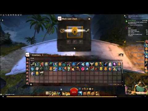GW2 - Opening 100 Black Lion Chests, Jun 30, 2015