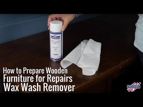 How to Prepare Wooden Furniture for Repairs - Wax Wash Remover