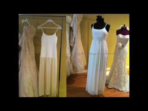 {EVA} How to sew a simple wedding gown - lining and gathered skirt