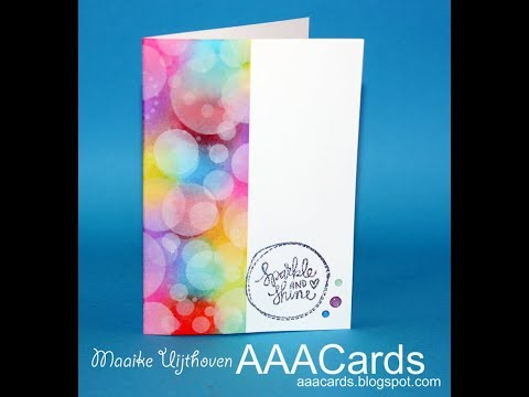 AAA cards challenge 105  sparkle- bokeh effect