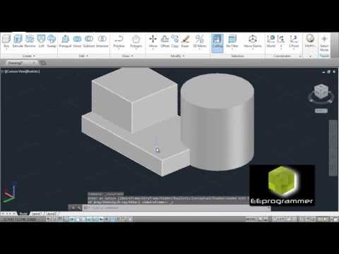 Learning AutoCAD 2014 - 3D Model Tutorial for Beginners #1