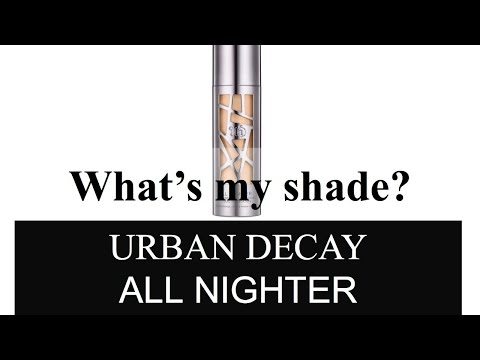 Find Your Shade | Urban Decay All Nighter Foundation