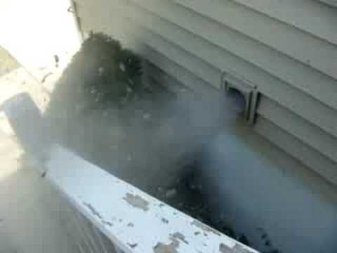 Dryer vent + 200mph leaf blower