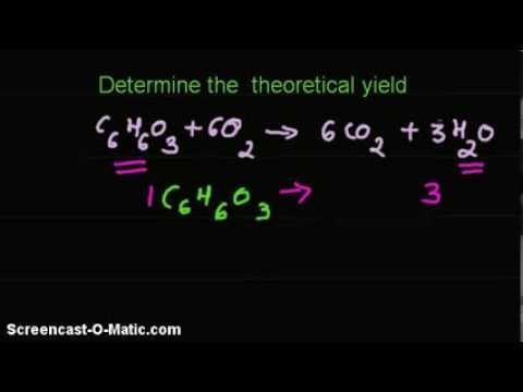 Video -Given the percent % yield, mass of a reactant, find mass of a product