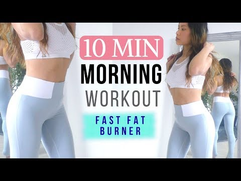 10 MIN Morning Workout » Slim Waist, Sexy Arms, Tone Up Glutes // Fast Fat Burner