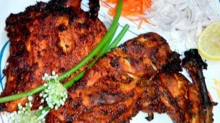 Crispy /SpicyTandoori Chicken in Microwave - Indian Restaurant Style...