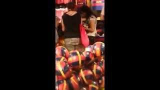BEAST/B2ST [FanCam 150629] - Yoon Doojoon and Yang Yoseob buying on Barça' store