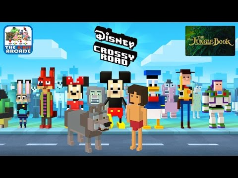 Disney Crossy Road: The Jungle Book Edition - Akela & Mowgli (iOS/iPad Gameplay)