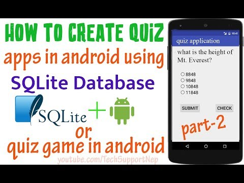 How to Create Quiz Apps in Android using SQLite Database? [Part-2] [With Source Code]