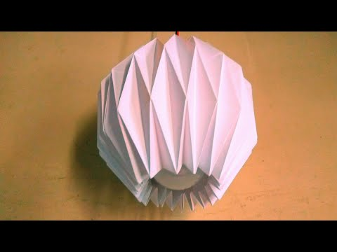 Making of Diy Paper Lamp shade  at home