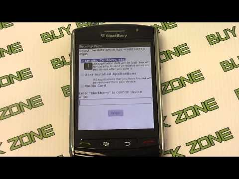 How to restore the factory settings on a Blackberry Storm 9530