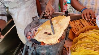 Masala Khichiya Papad | Mumbai's Special Roadside Snack | Indian Street Food