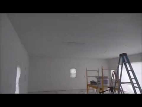 Garage Build pt 5 -Finish drywall,Knockdown ceiling,Paint,Trim,Driveway