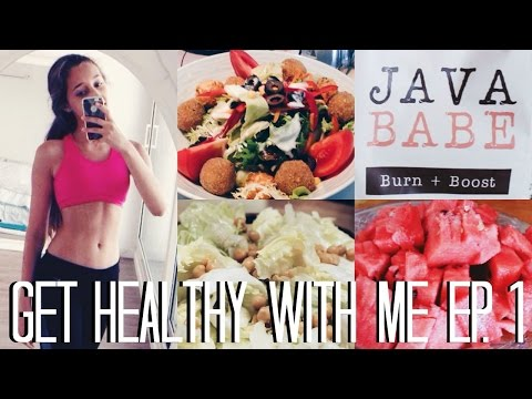 HEALTHY ICE CREAM, WORKING OUT AND FAT BURNING COFFEE? | Get Healthy With Me Ep. 1