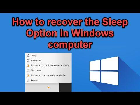How to Enable the Sleep Option in Windows 10/8/7 Shutdown Menu