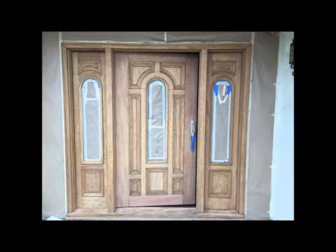 Mahogany Entry Door Refinishing Process