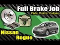 DIY: Nissan Rogue Front Brake Job & Caliper Swap [HD]