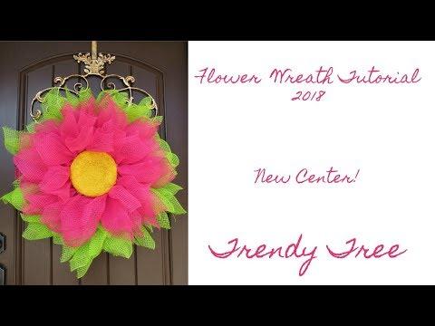2018 Flower Wreath Tutorial Re-Cap of Facebook Live