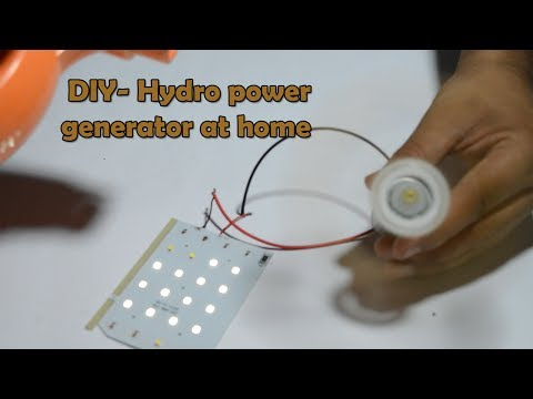 How to generate electricity from hydro power - DIY Water generator