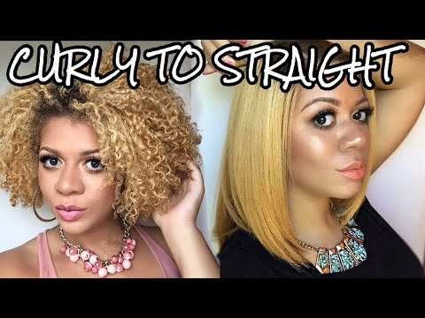 Curly to Straight | How I Straighten My Natural, Curly Hair Tutorial