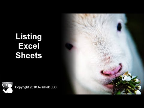 Listing Excel Sheets