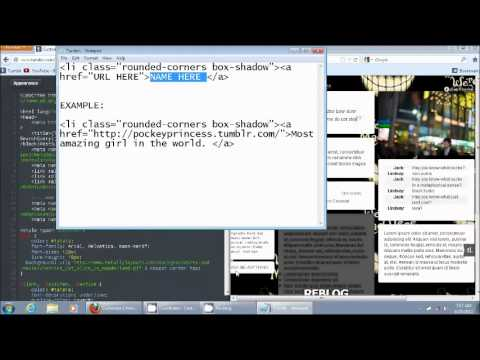 How to put tabs on your Tumblr side bar using an HTML code.