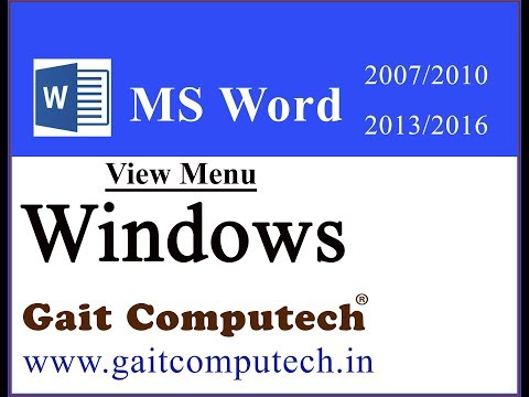 New Windows split arrange, position, view side by side  In MS Word 2016/2013/2010/2007 in Hindi