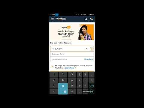 Recharge Jio with Amazon Pay Balance