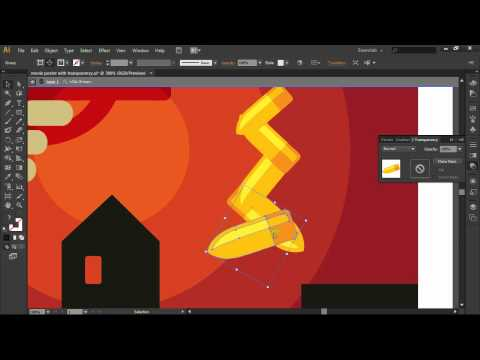 Using a Gradient inside the Transparency Panel in Adobe Illustrator CS6