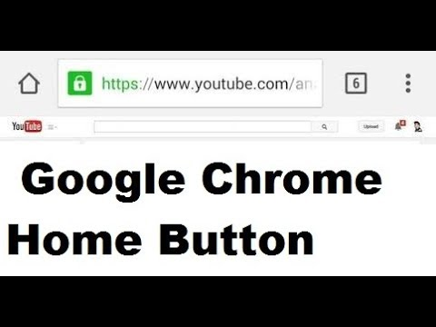 How To Display The Google Chrome Home Button
