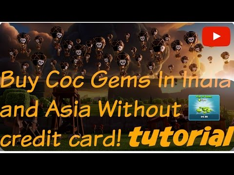 How To Buy COC Gems in India And Asia Without  Credit Card September2016 september2016