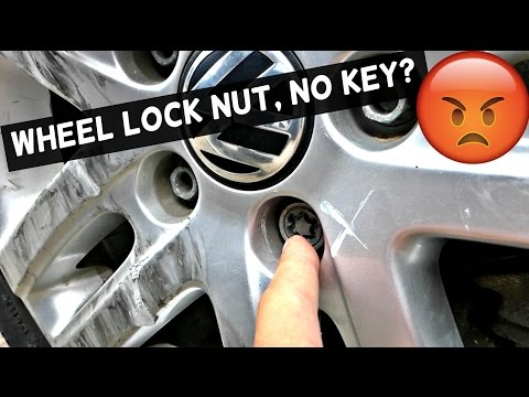 HOW TO REMOVE A WHEEL LOCK NUT WITHOUT A KEY  WHEEL | LOCK BOLT REMOVING